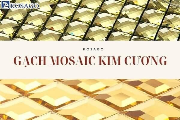 Gạch mosaic kim cương