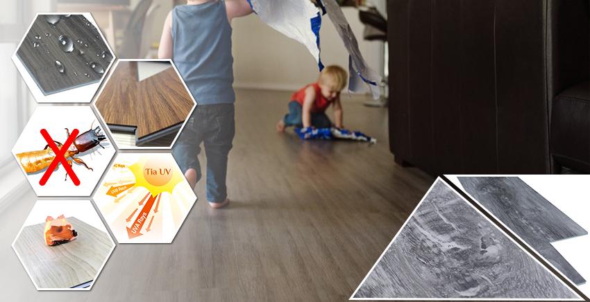 Đặc điểm nổi bật sàn nhựa giả gỗ trong nhà SPC 17322