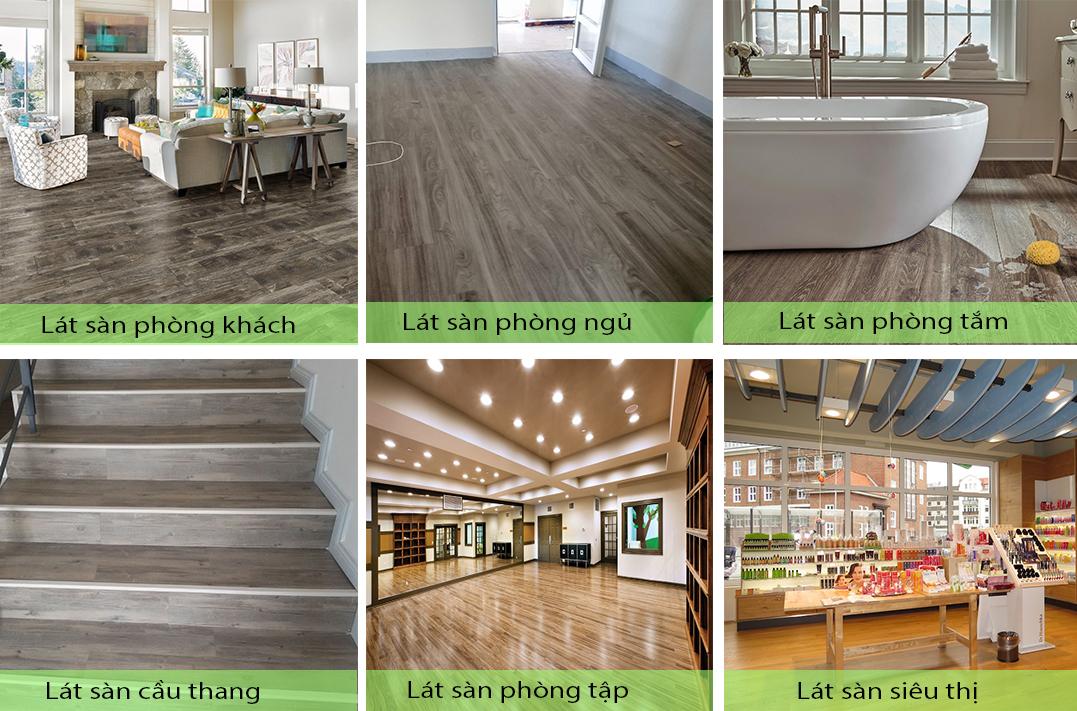 Ứng dụng sàn nhựa giả gỗ trong nhà SPC 17322