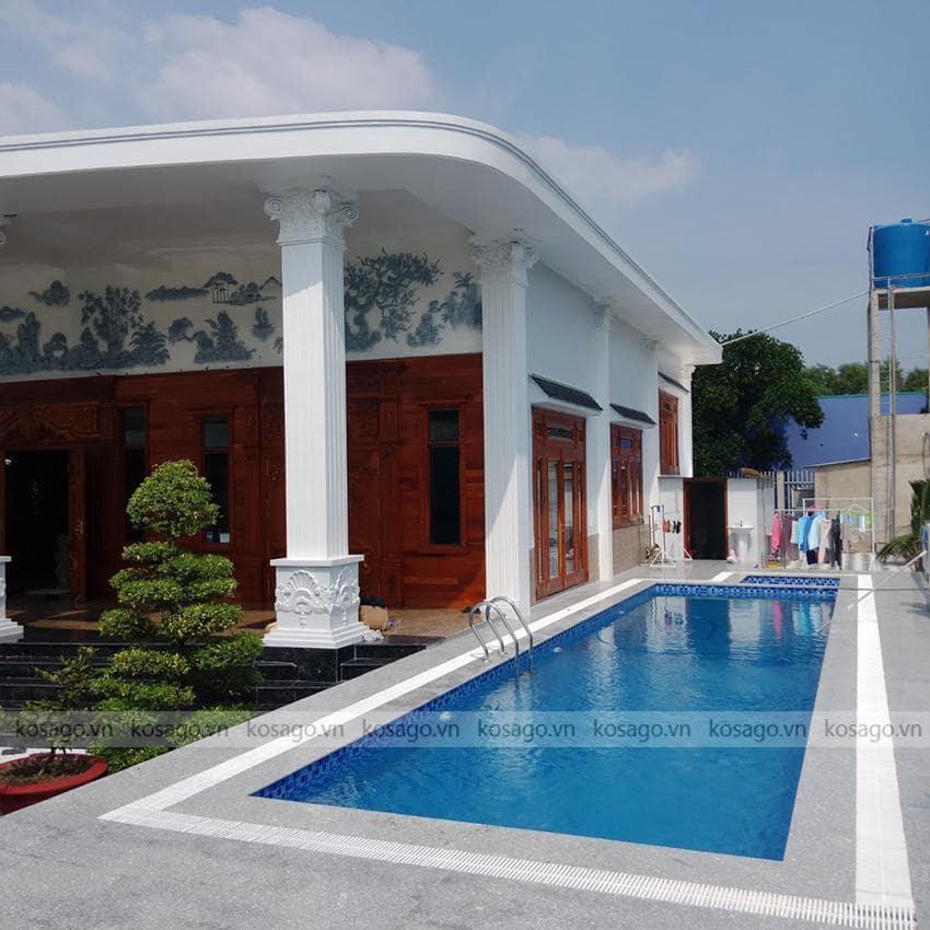 Kosago hoàn thiện công trình bể bơi chị Tuyền, Tp HCM