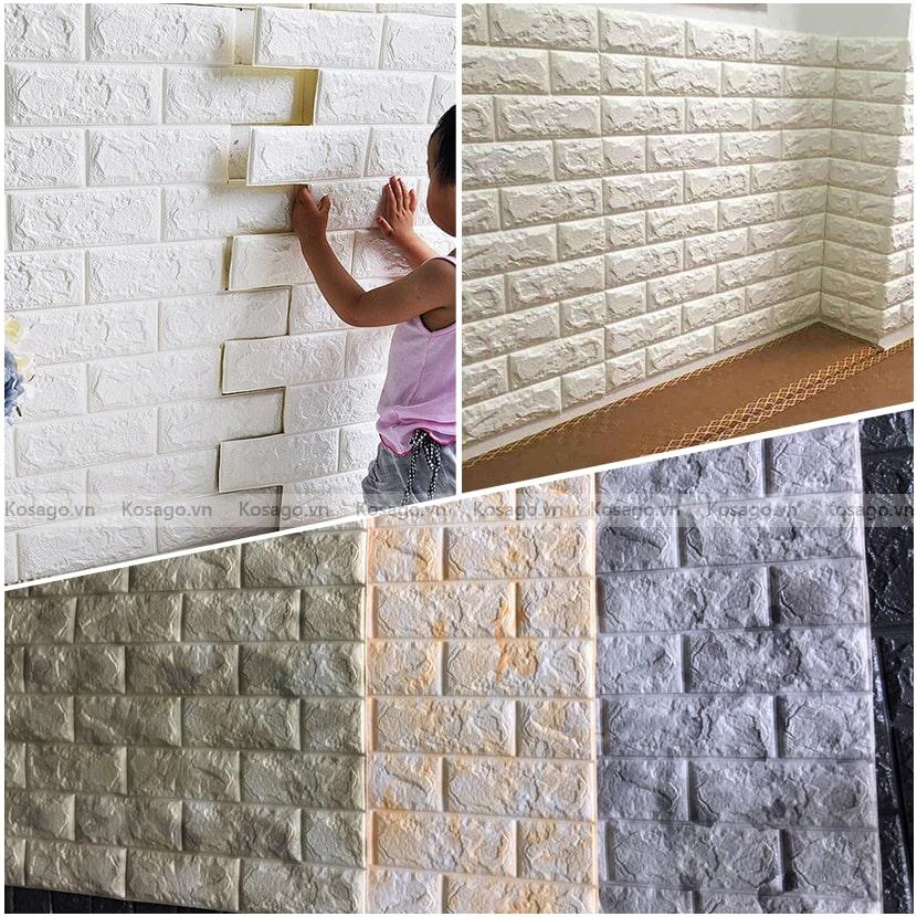 Ứng dụng xốp dán tường 3D