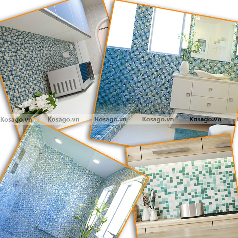 Ứng dụnggạch mosaic BV003