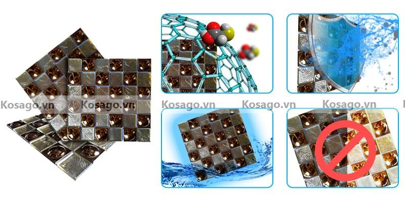 Đặc điểm nổi bật của gạch mosaic thủy tinh BV014