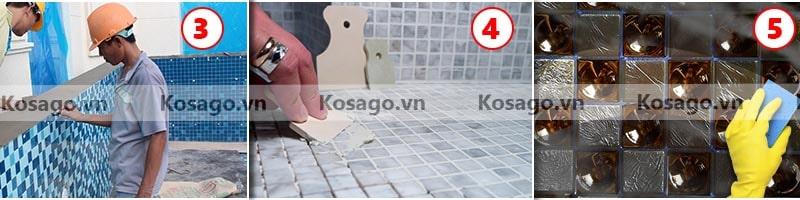 Hướng dẫn lắp đặt gạch mosaic BV014
