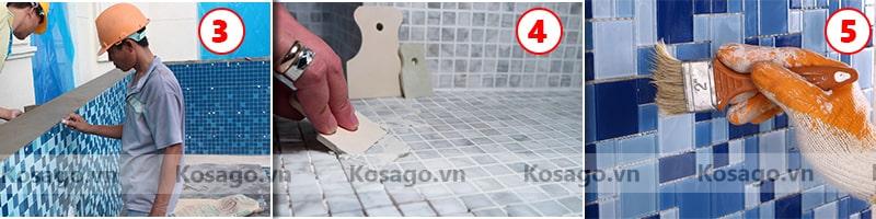 Thi công gạch mosaic BV004