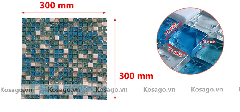 Kích thước gạch mosaic BV004