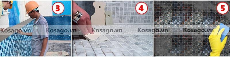 Hướng dẫn ốp lát gạch mosaic BV007
