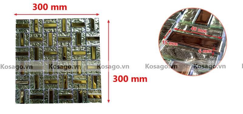 kích thước gạch mosaic BV017