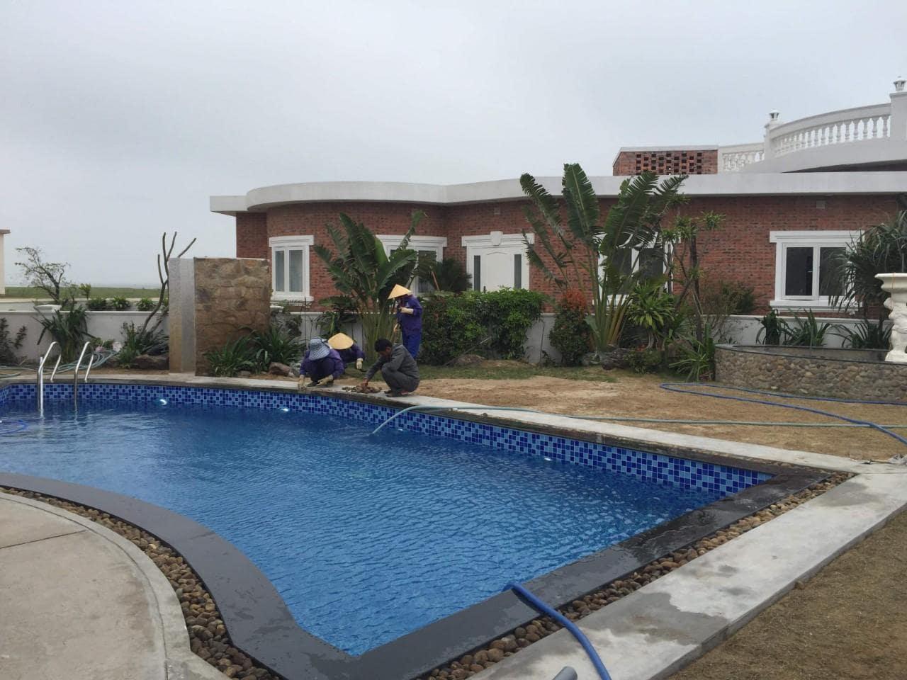 Kosago hoàn thiện công trình bể bơi Nghi Xuân – Hà Tĩnh