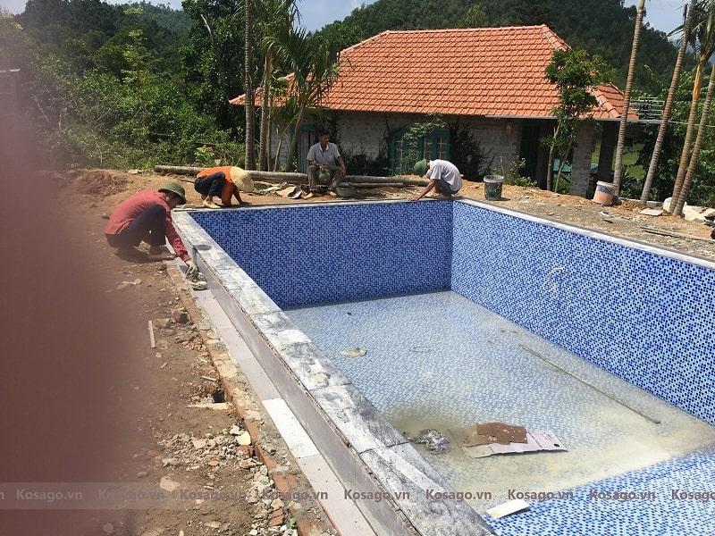 Kosago bàn giao công trình bể bơi Hiden Hill, tại Vĩnh Phúc