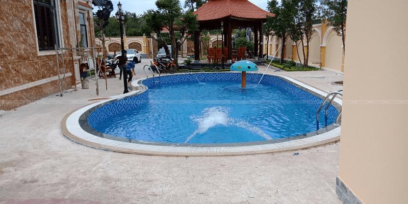 Kosago hoàn thiện ốp lát bể bơi anh Hoàng, Bình Phước