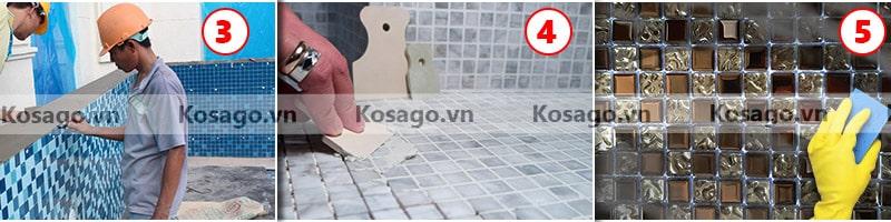 Hướng dẫn thi công gạch mosaic BV020