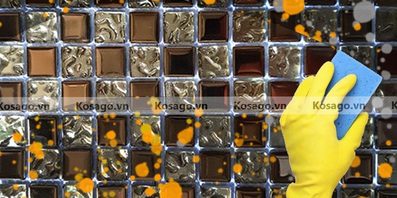 Đặc điểm gạch mosaic trang trí BV020 dễ vệ sinh