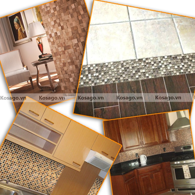 Ứng dụng gạch thủy tinh trang trí BV021