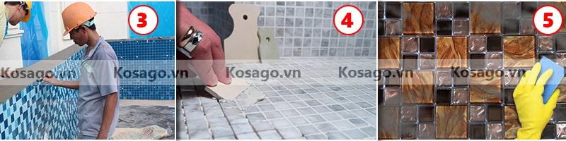 Hướng dẫn lắp đặt gạch mosaic BV021