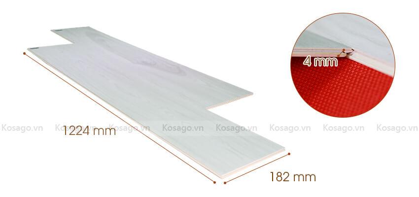 Thông số sàn nhựa giả gỗ trong nhà BD2310