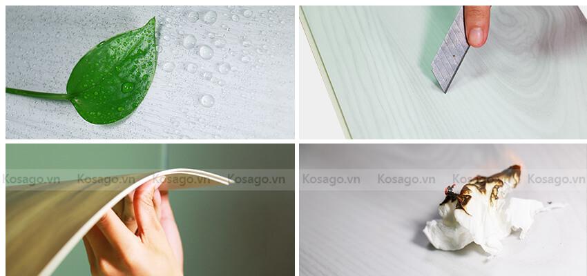 Sàn nhựa trong nhà BD2310 có độ bền tốt - chống nước - chống lửa tốt