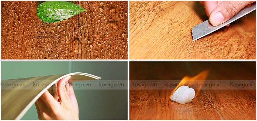 Sàn nhựa trong nhà BD2314 có thể chống lửa - chống ẩm - chống xước