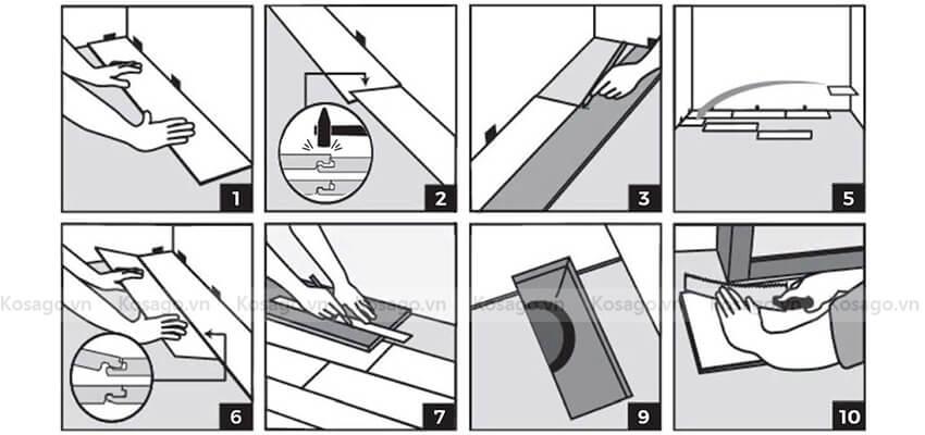Quy trình thi công sàn nhựa trong nhà BD2314