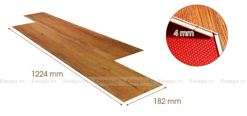 Thông số sàn nhựa trong nhà BD2314