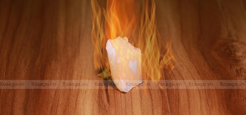 Sàn nhựa giả gỗ trong nhà bd1023 chống lửa
