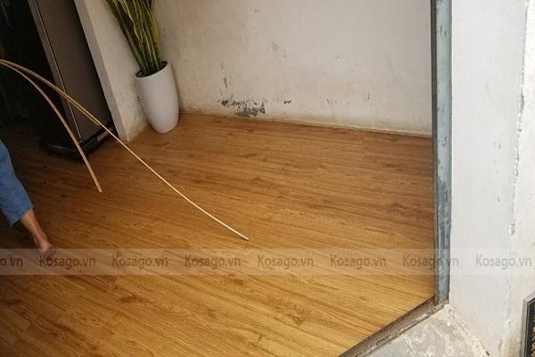 Kosago bàn giao công trình sàn nhà cô Phương, Cổ Nhuế