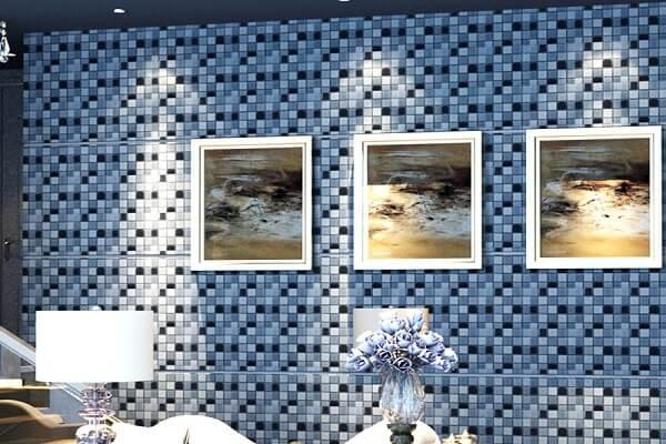 mẫu gạch mosaic ốp tường phòng khách đẹp