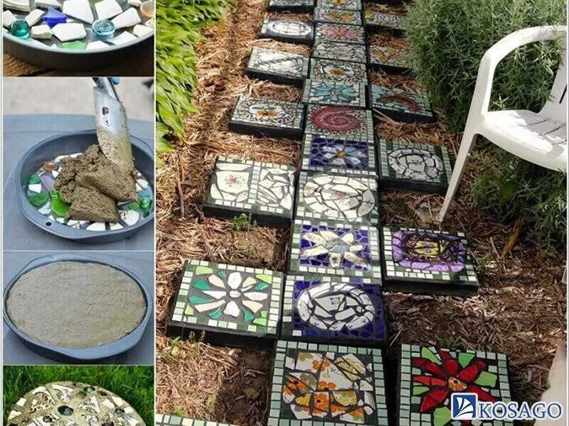 gạch mosaic ốp tiểu cảnh