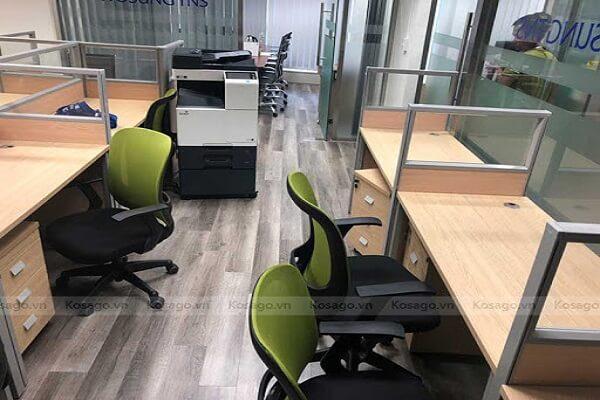 Kosago thi công sàn nhựa hèm khóa văn phòng công ty tại Keangnam