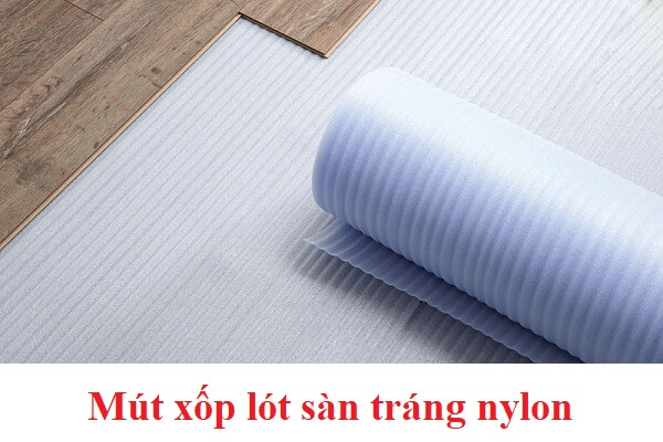 Mút xốp lót sàn tráng nylon