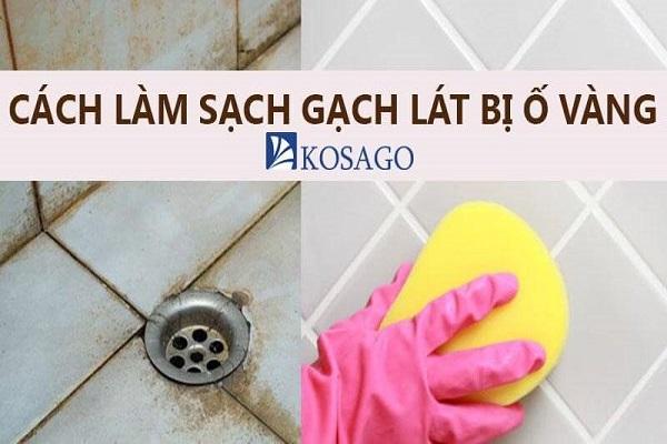Cách làm sạch gạch lát bị ố vàng