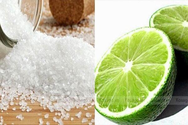 chanh muối tẩy rỉ sét hiệu quả