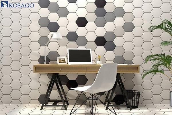 chất liệu mosaic lục giác đa năng