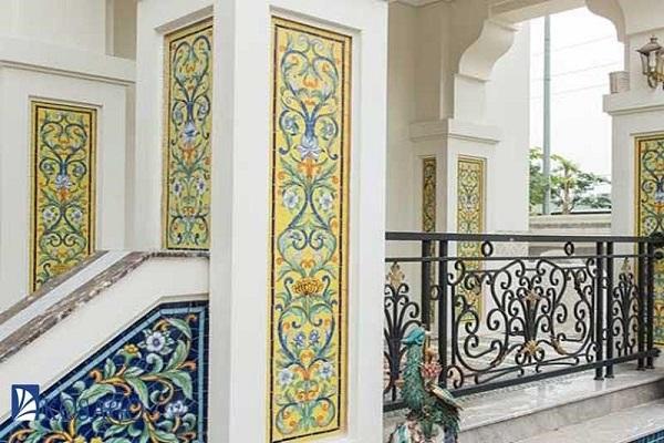 Gạch mosaic ốp mặt tiền