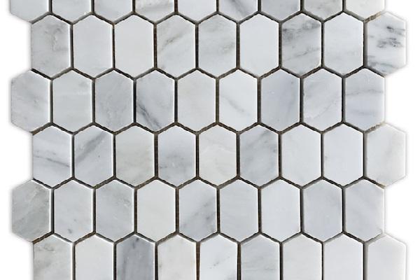 Gạch mosaic lục giác cọc nhà