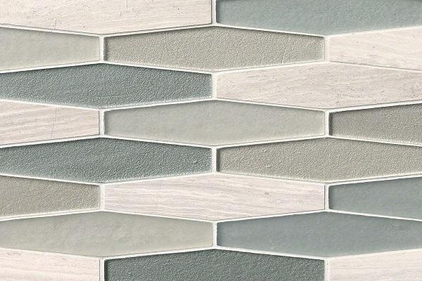 Gạch mosaic lục giác dài