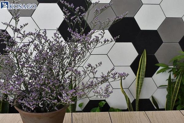 tính thẩm mỹ nổi bật của mosaic lục giác