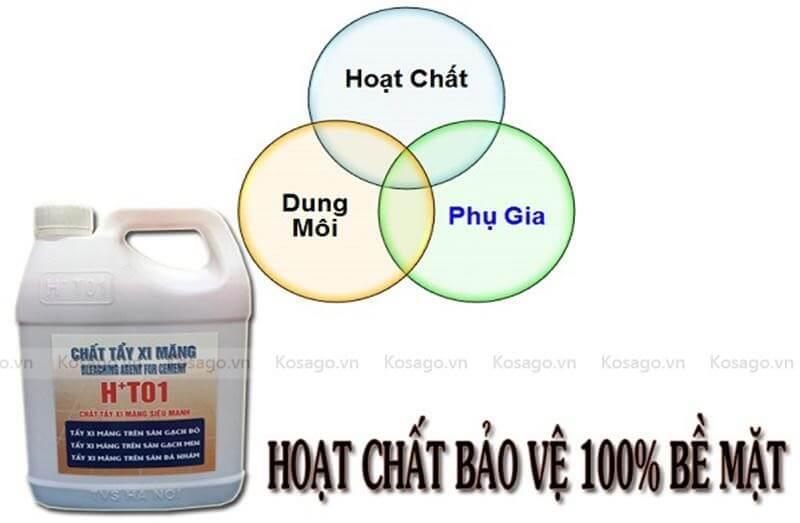 Hóa chất tẩy xi măng chuyên dụng