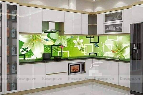Gạch tranh 3D ốp phòng bếp