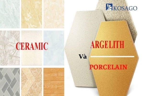 so sánh gạch ceramic với gạch granite và gạch porcelain