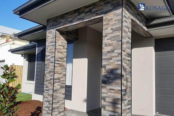 tiêu chuẩn lựa chọn gạch ốp cột nhà theo khu vực ngoài trời