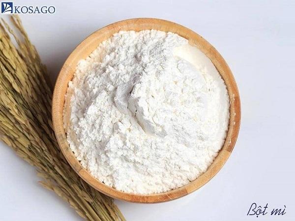 bột mì và bột gạo