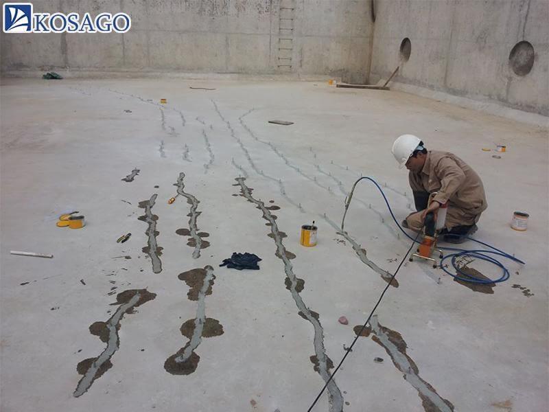 cách xử lý sàn bê tông mới đổ bị nứt