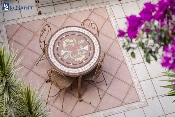 gạch ceramic lát sân thượng