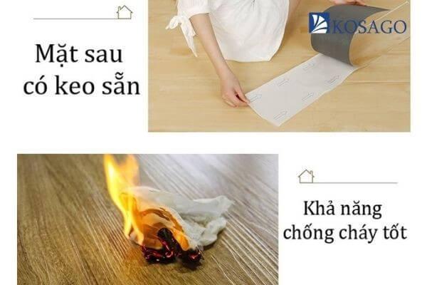 sàn nhựa giả gỗ chống cháy