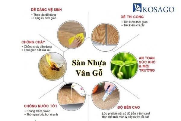ưu điểm sàn nhựa giả gỗ