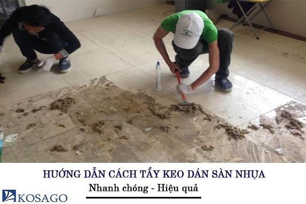 Cách tẩy keo dán sàn nhựa (Nhanh – Hiệu Quả) | Kosago
