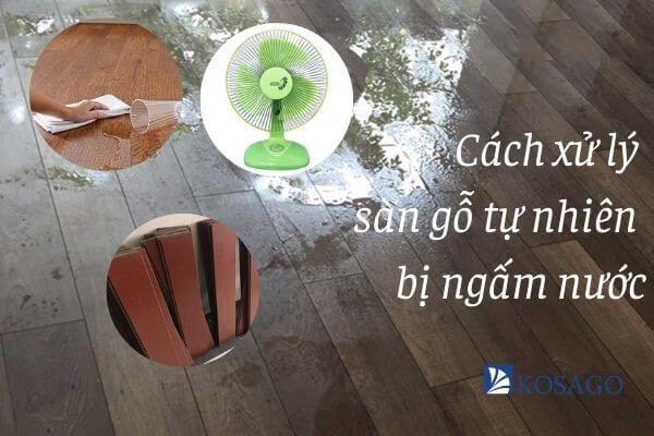 cách xử lý sàn gỗ bị ngấm nước