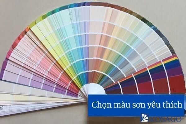 chọn màu sơn yêu thích