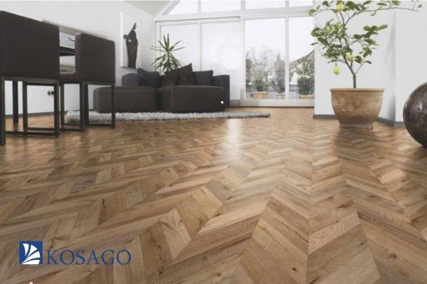 sử dụng gạch màu gỗ để lát